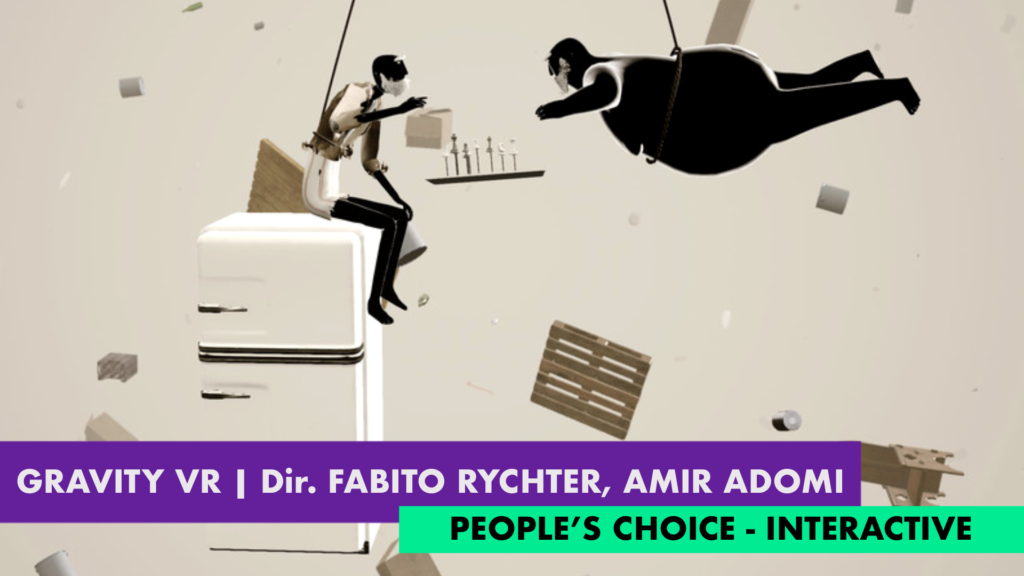 Gravity VR Wins People's Choice Award fior Best Interactive Experience
